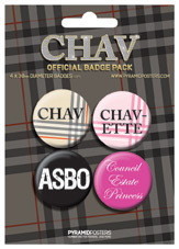 Plakietki zestaw  CHAV