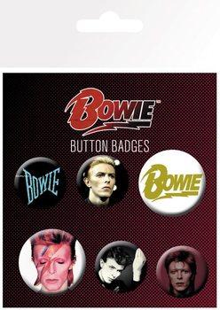 Plakietki zestaw  David Bowie - Mix