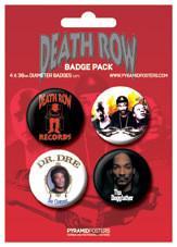 Plakietki zestaw DEATH ROW RECORDS