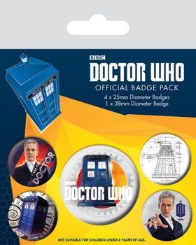 Plakietki zestaw Doctor Who - 12th Doctor