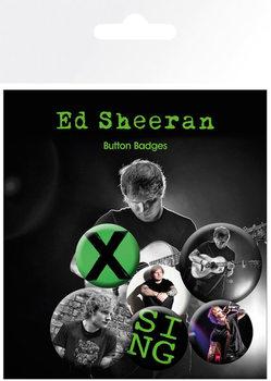 Plakietki zestaw Ed Sheeran - Singer