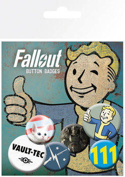 Plakietki zestaw Fallout 4 - Mix 11