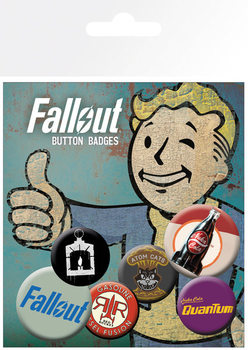 Plakietki zestaw Fallout 4 - Mix 12