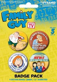 Plakietki zestaw FAMILY GUY - characters