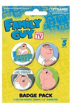 Plakietki zestaw FAMILY GUY - peter