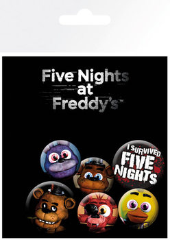 Plakietki zestaw Five Nights at Freddys