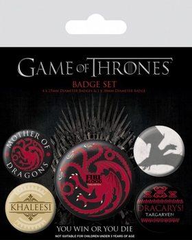 Plakietki zestaw Gra o tron - Fire and Blood