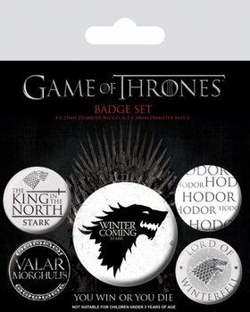 Plakietki zestaw Gra o tron - Winter is Coming