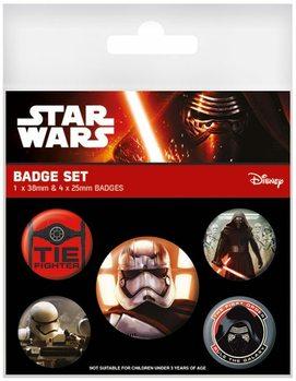 Plakietki zestaw Gwiezdne wojny, część VII : Przebudzenie Mocy - First Order