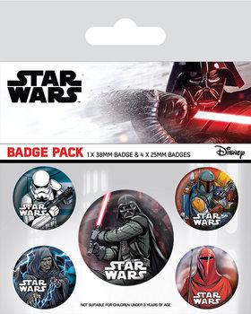 Plakietki zestaw  Gwiezdne wojny - Dark Side