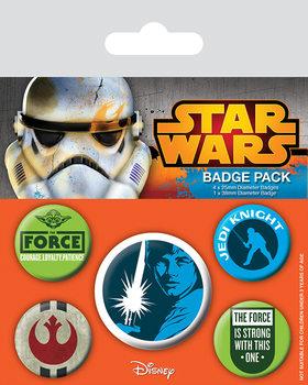 Plakietki zestaw Gwiezdne wojny - Jedi
