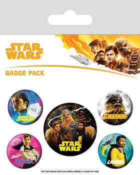 Plakietki zestaw Han Solo: Gwiezdne wojny historie