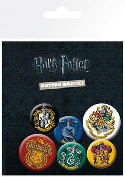 Plakietki zestaw Harry Potter - Crests