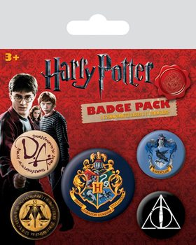 Plakietki zestaw Harry Potter - Hogwarts