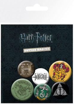 Plakietki zestaw Harry Potter - Mix