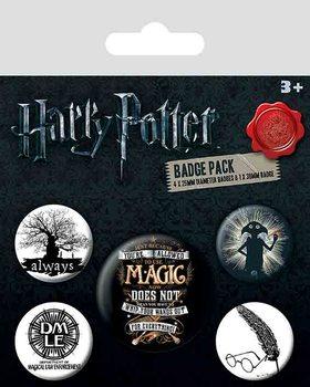 Plakietki zestaw Harry Potter - Symbols