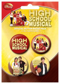 Plakietki zestaw HIGH SCHOOL MUSICAL - gym
