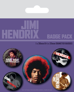 Plakietki zestaw Jimi Hendrix - Experience