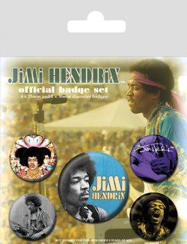 Plakietki zestaw Jimi Hendrix