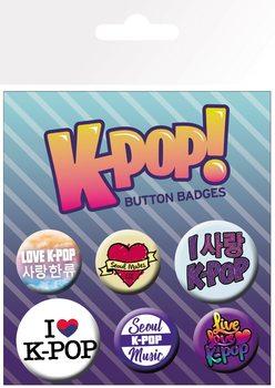 Plakietki zestaw  KPOP - Mix