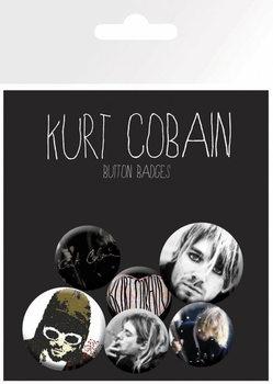 Plakietki zestaw Kurt Cobain