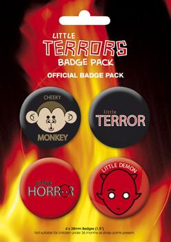 Plakietki zestaw  LITTLE TERROR