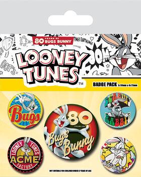 Plakietki zestaw Looney Tunes - Bugs Bunny 80th Anniversary