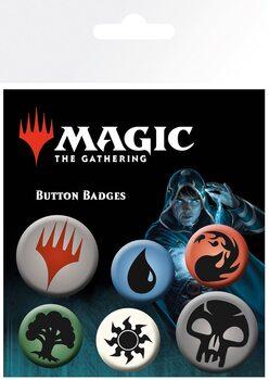 Plakietki zestaw Magic The Gathering - Mana Symbols
