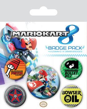 Plakietki zestaw  Mario Kart 8