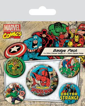 Plakietki zestaw Marvel Retro - Spider-Man