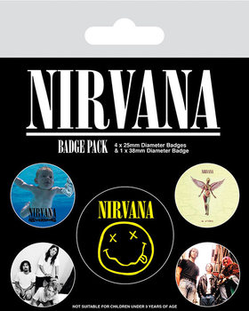 Plakietki zestaw Nirvana - Iconic