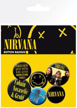 Plakietki zestaw Nirvana - Smiley