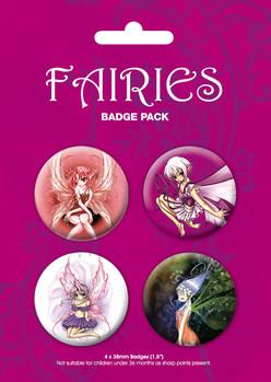 Plakietki zestaw ODM - fairies
