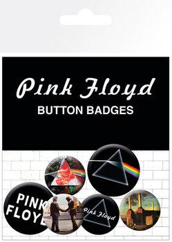 Plakietki zestaw Pink Floyd - Album and Logos