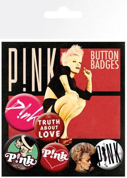 Plakietki zestaw PINK - truth about love