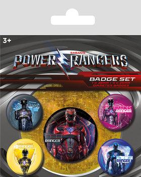 Plakietki zestaw Power Rangers - Rangers