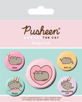 Plakietki zestaw Pusheen - Nah