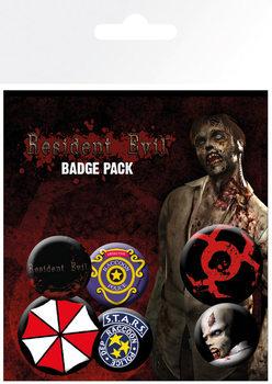 Plakietki zestaw Resident Evil