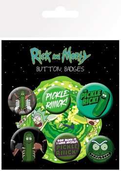 Plakietki zestaw Rick and Morty - Pickle Rick