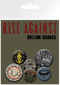 Plakietki zestaw Rise Against - Shaking Hands