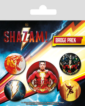 Plakietki zestaw Shazam - Power