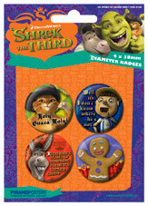 Plakietki zestaw SHREK 3 - characters