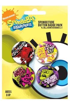 Plakietki zestaw  SPONGEBOB - spongitude