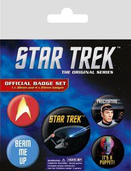 Plakietki zestaw Star Trek