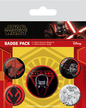 Plakietki zestaw Star Wars: Skywalker - odrodzenie - Sith
