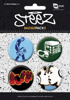 Plakietki zestaw STEEZ - Pack 2