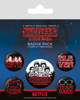 Plakietki zestaw Stranger Things - Characters