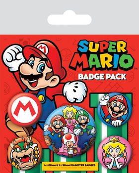 Plakietki zestaw Super Mario