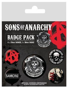 Plakietki zestaw Synowie Anarchii