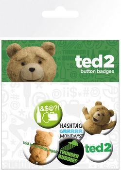 Plakietki zestaw Ted 2 - Mix Clean